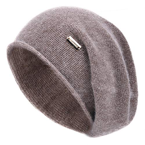 jaxmonoy Cashmere Slouchy Knit Beanie Hat for Women Winter Soft Warm Ladies Fleece Wool Knitted...