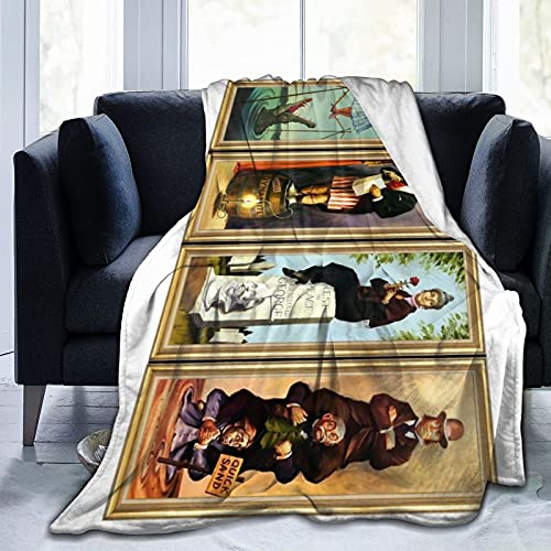 The Haunted Mansion Super Soft Throw Blanket for Couch Bed Sofa Throw for Bed Couch Beach Travel Car Farmhouse All Season Warm Fuzzy Microplush Lightweight Thermal Fleece Blankets 80'X60'