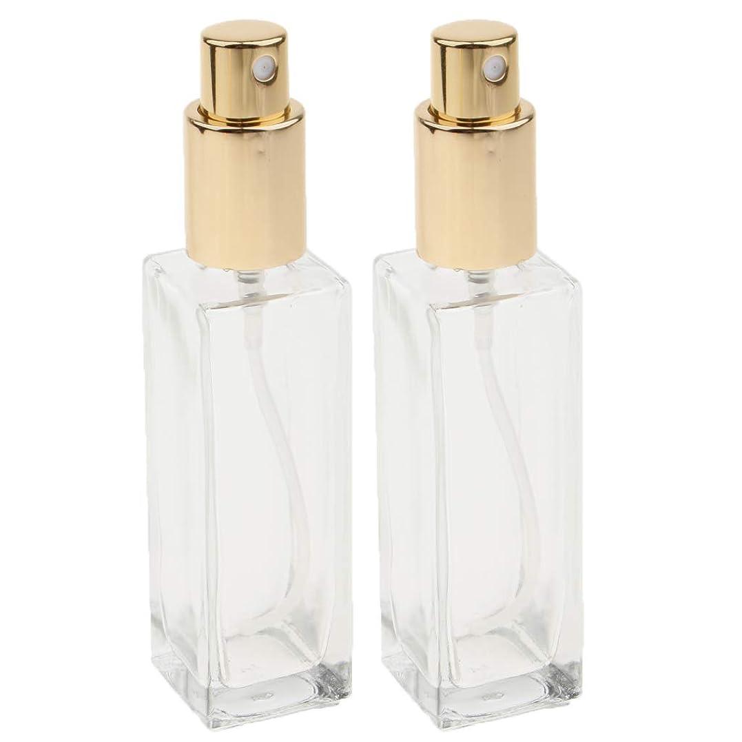 紀元前氏織機KESOTO 2個 スプレーボトル 香水ボトル アトマイザー ポンプ  詰め替え 旅行 2色選べ - ゴールド