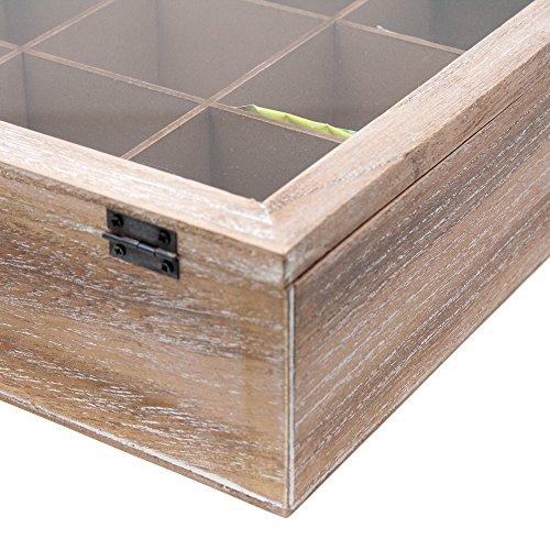 ToCi–Caja de té grandes, 24x 24x 8,5cm (l x an x al),con...