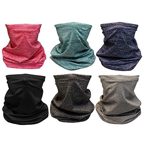 FDBRO Polaina de cuello multipropósito unisex Defensor de polvo de viento Cubierta de cara Toalla Bufanda de pañuelo sin costura al aire libre