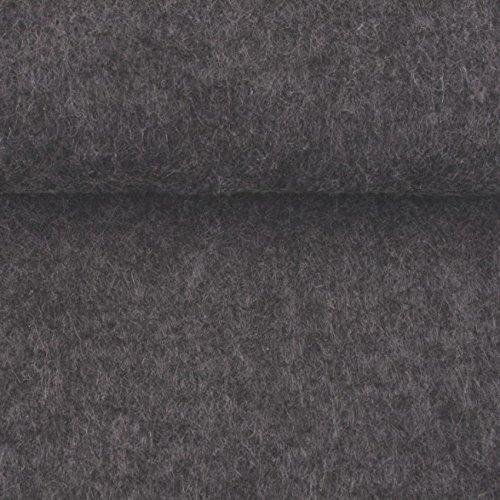 ggm® Filz Taschenfilz 4mm, einseitig beschichtet, 0,5 lfm, 102 cm breit (hellgrau meliert)
