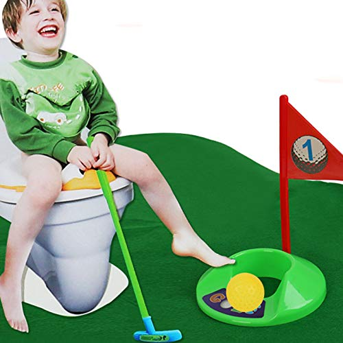 ZXWNB Enfants Jouet Golf Set Toilette Mini Golf Club Set Parent-Enfant Outdoor Sports Interactive...