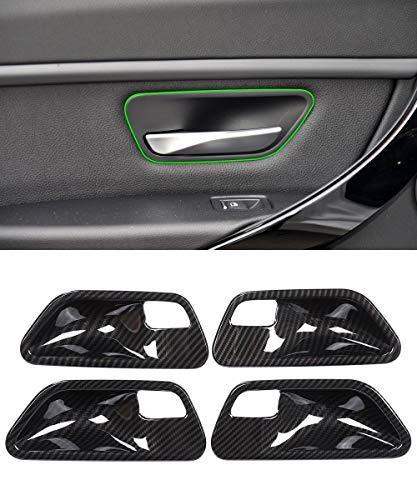 YIWANG Verkleidung für Innentürgriff aus ABS-Kunststoff, Karbonfaser, 4 Stück, für 3 4 Serie F30 F32 F35 316i 318i 320li 2013–2019 Autozubehör