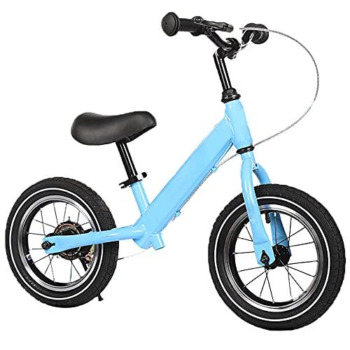 LRBBH 12 Pulgadas Bicicleta sin pedales Bicicleta de Ejercicio de Entrenamiento Al Aire Libre Bicicleta de Equilibrio para NiñOs de 2 a 6 añOs con Frenos/blue / 12inch