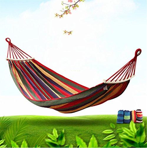 MONEYY Extérieur en bois double couvre-lits hamacs anti-basculement, pivotement intérieur dortoir dortoir étudiant swing 200*80cm ascenseur