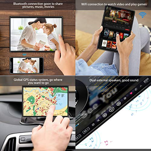 4G Tablet 10 Zoll - Android 9.0 Zertifiziert von Google GMS, 2 in1 Tablet mit Tastatur 4 GB RAM und 64 GB ROM, 8000 mAh Quad-Core, Dual SIM,WiFi,Bluetooth, GPS, OTG, Typ C - Schwarz (schwarz)