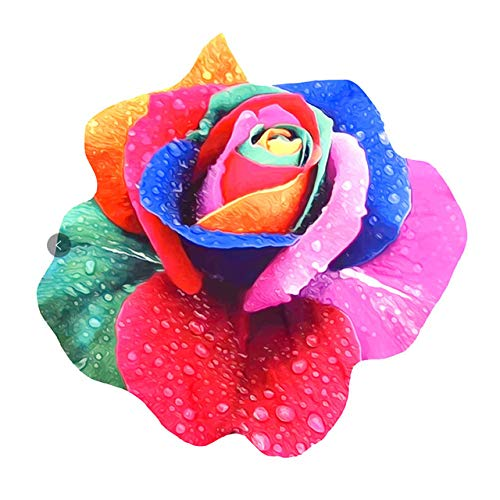 sxh2818517 Toalla de Playa Redonda Toalla de Ducha de Tela de Microfibra con Estampado de Rosas de Colores Traje de baño Toalla de baño para Adultos Capa Mantón Yoga Playa Mat