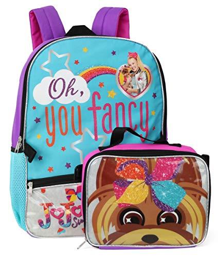 Nickelodeon Jojo Siwa Backpack Lunchbag Set, Fancy/Bowbow, Size One_Size
