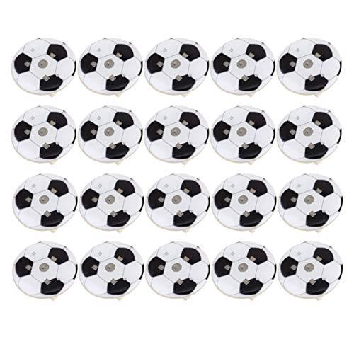 NUOBESTY 25 Stücke Led Leuchten Fußball Brosche Pins Blinkende Anstecknadeln Kinder Fußball Geburtstagsfeier Bevorzugt Geschenke