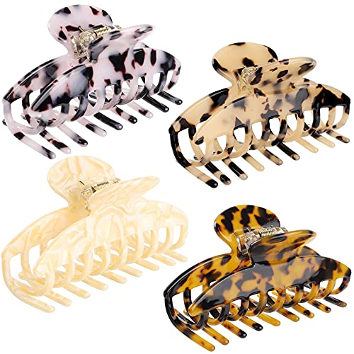 4 PCS Large Hair Claw Clips Strong Hold Hair Clips Non-slip Accessories for Thin Hair Thick Hair for Women Girls