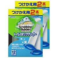 【まとめ買い】 スクラビングバブル トイレ洗浄剤 トイレスタンプ フレッシュソープの香り 付替用(2本入り×2箱) 4本セット 24スタンプ分