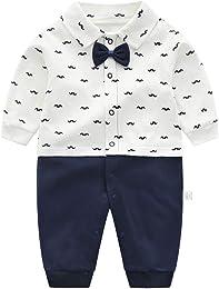 Grenouillères Bébé Gentleman Combinaison en Coton
