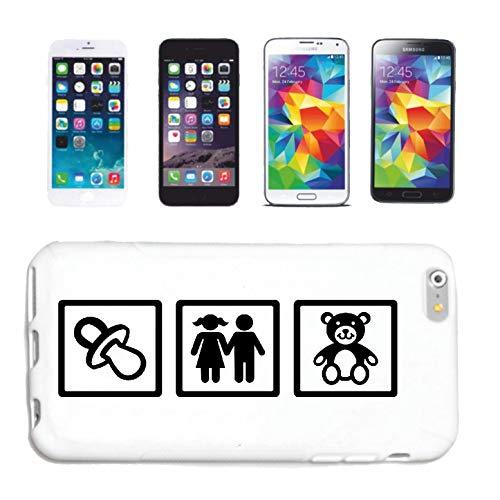 Bandenmarkt telefoonhoes compatibel met Samsung Galaxy S3 babyzitter baby kleinkind wenskind Hebamme hardcase beschermhoes mobiele telefoon cover Smart Cover