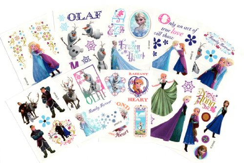 30 Sheets of Disney Frozen Temporary Tattoos (Includes Princess Anna, Queen Elsa, Olaf, Kristoff and Sven)