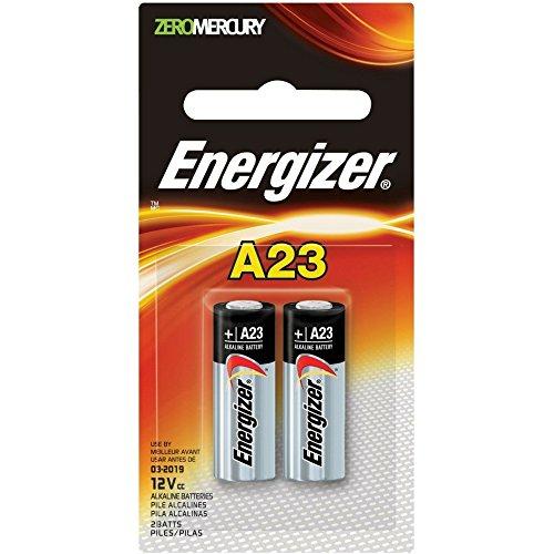Energizer Zero Mercury Alkaline Batteries A23 2 ea (Pack of 3)