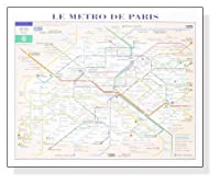 ポスター パリ Le Metro De Paris (パリ地下鉄マップ)