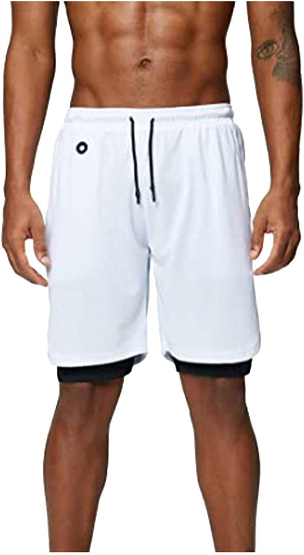 LEIYAN Mens Athletic Shorts Casual Drawstring Elastic Waist Loose Fit Workout Running Shorts with Pockets