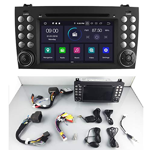 KasAndroid AUTORADIO Android 10.0 compatibile con Mercedes-Benz R171/ W171/ SLK Class R171 SLK200/SLK230/SLK280/SLK300. OCTA CORE, 4GB RAM, 64GB ROM GPS Radio AUTODVD USB navi navigatore 2000-2011