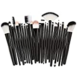 Beauty-Tools,Momoxi 25pcs Cosmetic Makeup Brush Blusher Eye Shadow Brushes Set Kit Holzgriff,...