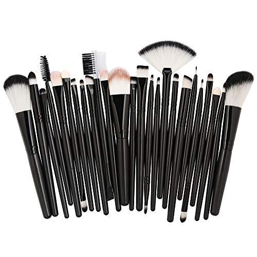 Beauty-Tools,Momoxi 25pcs Cosmetic Makeup Brush Blusher Eye Shadow Brushes Set Kit Holzgriff, farbiges Faserhaar, Mascara, Augenbrauenstift, Eyeliner, Valentinstag, Freundin