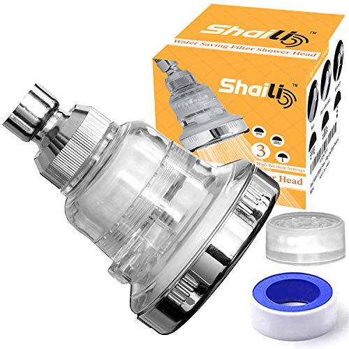 Water Softener Shower Head - Hard Water Filter - Chlorine & Fluoride Filter - Filtered Shower Head - High Pressure Shower Head - 3 Replaceable Filters - Leading Shower Filter for Low Water Pressure