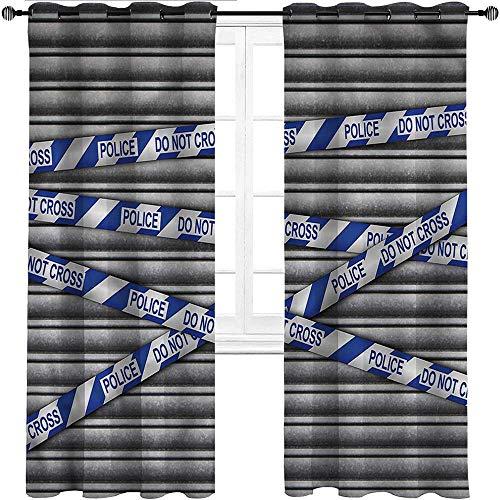 UNOSEKS LANZON - Cortinas opacas para cortinas de cine vintage, colores y tamaños, poliéster y mezcla de poliéster, Multi 08, W183 cm x L160 cm