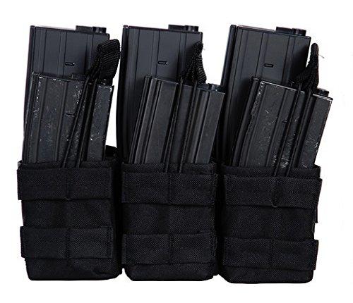 Portacargadores con 3bolsillos para 6cargadores M4M16101INC 359858, accesorio para chaleco táctico de airsoft, color negro
