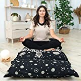inYAgo 100% Cotton Handmade Floor Pillow Bed Cover - Travel-Friendly and Perfect for Sleepovers - Best Pillow Bed Covers - Floor Pillows for Adults - Made in India - 88' x 32'