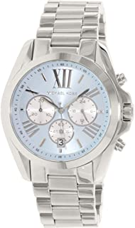 Michael Kors Women's MK6099 - Bradshaw Silver/Blue Watch