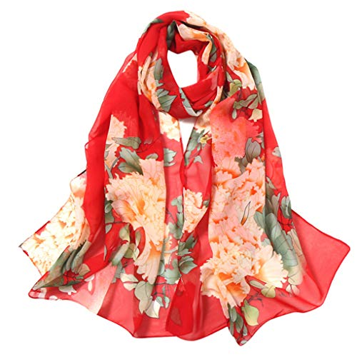 Dorical Elegante Schals für Damen Frauen Drucken Design Halstuch Pashmina Langer Schal für Frühling Herbst Sommer,Große Schals-160 * 70cm(T,160 * 50cm)