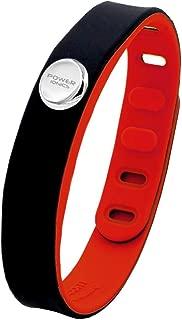 Power Ionics 3000ions Sports Waterproof Titanium Bracelet Wristband Improve Balance Sleeping Slimming (Black/Red)