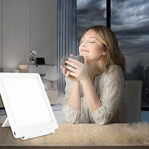 SAD Tageslichtlampe, LED Sonnenlicht Lampe, 6000LUX&10000LUX Lichttherapielampe, Tablet Lampe für den Heim- / Bürogebrauch Schreibtisch