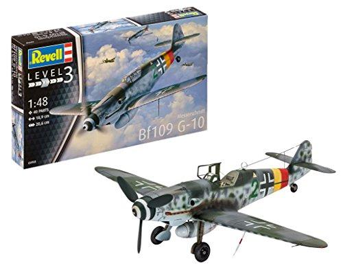 Revell Messerschmitt Bf109 G-10, Kit de Modelo, Escala 1:48 (3958) (03958), 18,9 cm