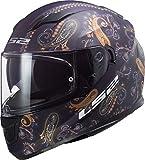 LS2 NC Casco para Moto, Hombre, Morado, Medium