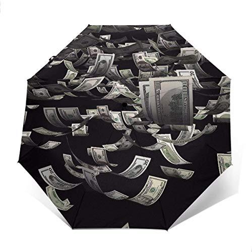 NA Lichtgewicht Draagbare Reizen Paraplu Versterkte Luifel 8 Ribs - USA Dollar Bill Schilderij Golf Paraplu's Winddichte Regendichte Paraplu's