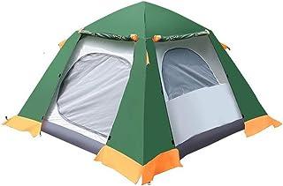 YDD Camping automatisk vattentät tält Outdoor 3-4 personer tvåfamilj-campingtält självgående bärbar parkcamping, lätt, avs...