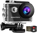 KAMTRON 4K Action Kamera Sport Actioncam Wasserdicht - Helmkamera mit 2.4G Fernbedienung WiFi Ultra...