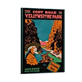 EWRW The Cody Road to Yellowstone Park Society of Poster