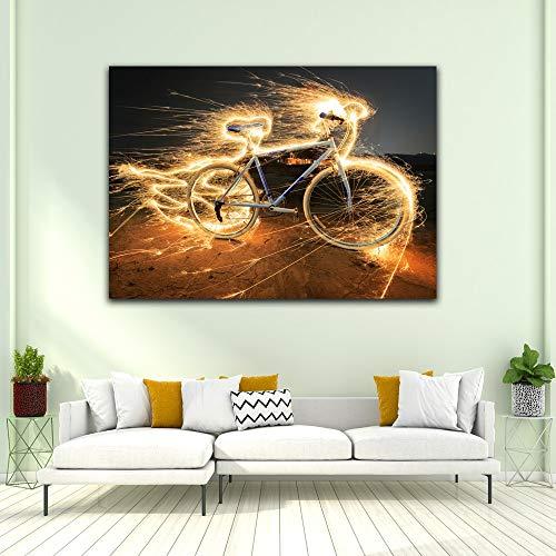 KWzEQ Imprimir en Lienzo Bicicleta Pared Arte Imagen Sala de Estar decoración del hogar30x40cmPintura sin Marco