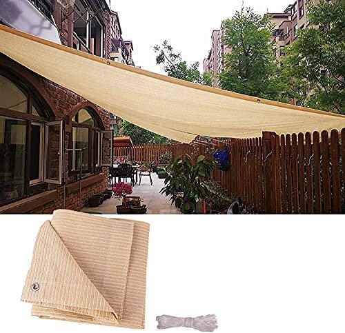 Rectángulo Shade Spade - Paño de sombra para el jardín de patio al aire libre, a prueba de lágrimas, 90% de sombreado, con una cuerda de 5 m, fácil de instalar, taza de dosel de lona más gruesa