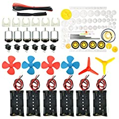 Pay attention: Please read the instructions or pictures carefully, use the correct circuit diagram to avoid short circuit, short circuit will produce high temperature and cause the battery Holder box to melt Color:Siler+Black;Voltage:DC 3V;Rated Spee...
