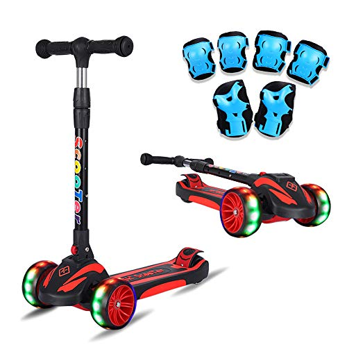 K-Speed 3 Wheels Kick Scooter for Kids and Toddlers Girls & Boys, Adjustable Height, Learn to Steer with Extra-Wide PU LED Flashing Wheels for Children