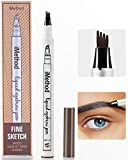 iMethod Eyebrow Pen - iMethod Eyebrow Pencil with a Micro-Fork Tip Applicator Creates Natural Looking Brows Effortlessly and Stays on All Day, Dark Grey
