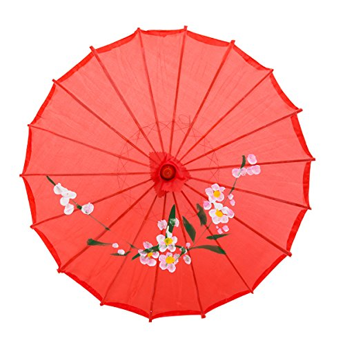 THY COLLECTIBLES 33' Japanese Chinese Umbrella Parasol For Wedding Parties, Photography, Costumes, Cosplay, Decoration And Other Events (Red)