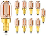 Paquete de 10 bombillas de candelabro LED E12 / E14 2200K Bombillas de luz de...