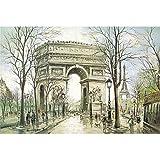 TONGSH Puzzles El Arco del Triunfo en la Pintura, el Extremo Occidental de los Champs Elysées.Juguetes educativos de Jigsaw Puzzle Cartas Niños Adultos (Color : 1000Tablets)