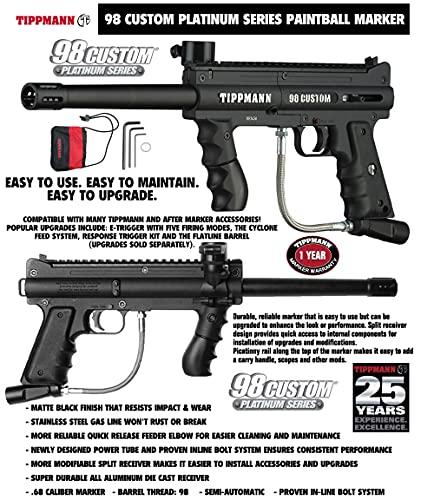 Maddog Tippmann 98 Custom Basic Titanium CO2 Paintball Gun Marker Starter Package - Black