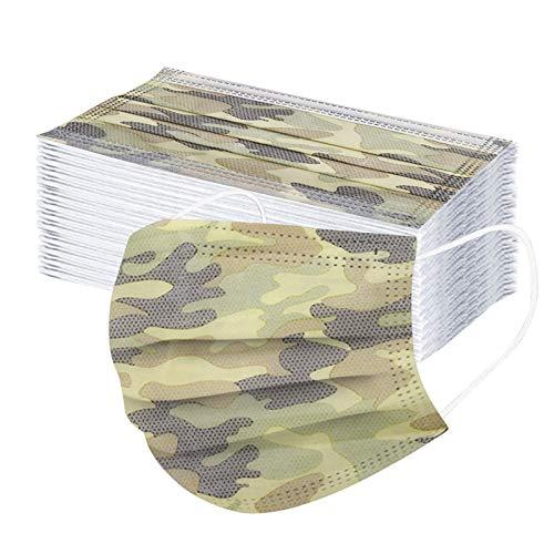 Muamaly 50 Stück Erwachsene_Mundsctuz Atmungsaktiv Fas_Covr Farb Schmetterling Drucken Mund-Nasen-Schutz Masc für Männer und Frauen (A2)