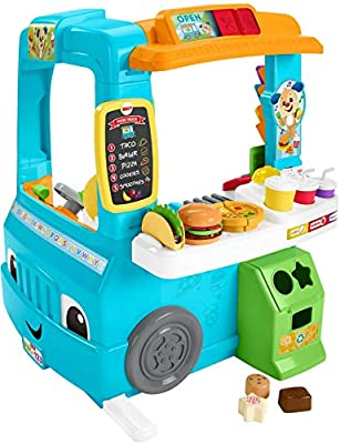 Fisher-Price Laugh & Learn Servin' Up Fun Food Truck, Musical Role Play Toy for Toddlers 18-36 Months from Fisher Price